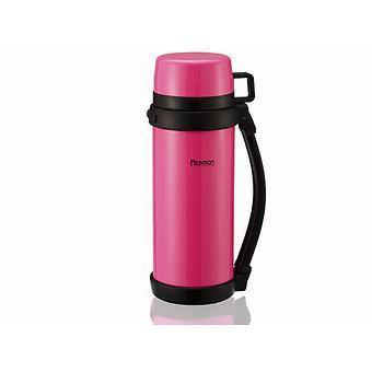 Термос 1200 мл розовый (нерж. сталь) Fissman 7888 - Minim