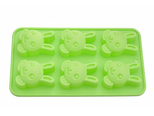 Форма для выпечки 6 кексов FissmanЗАЙЧИК 26x14,5x3 см ЗЕЛЕНЫЙ ЧАЙ (силикон) 6654 (1)