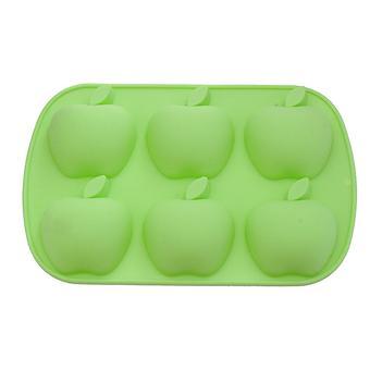 Форма для выпечки Fissman 6 кексов Яблоки Зеленый Чай (силикон) 6664 - Minim