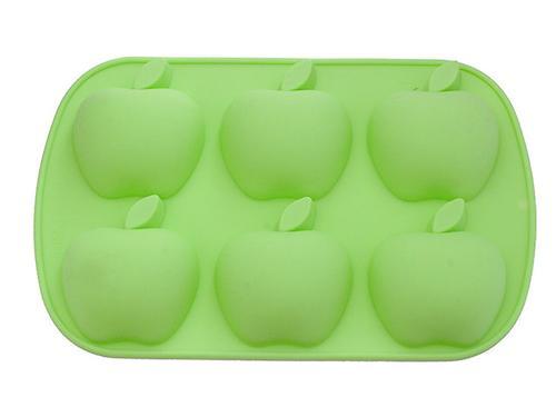 Форма для выпечки Fissman 6 кексов Яблоки Зеленый Чай (силикон) 6664 (1)