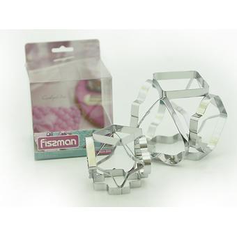 Набор из двух форм для выпекания (вырезания печенья) 6-в-1 (нерж. сталь) Fissman 7424 - Minim