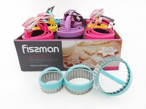 Набор из 3 формочек для выпекания (вырезания печенья) (нерж. сталь) Fissman 7467 (1)