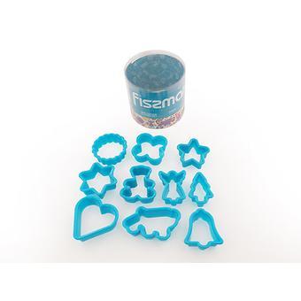 Набор из 10 мини-формочек для выпекания (вырезания печенья) (пластик) Fissman 7468 - Minim