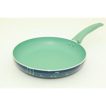 Сковорода для жарки DIVERSO 24x4,5 см с ручкой мятного цвета (алюминий с антипригарным покрытием) Fissman 4828 - Minim