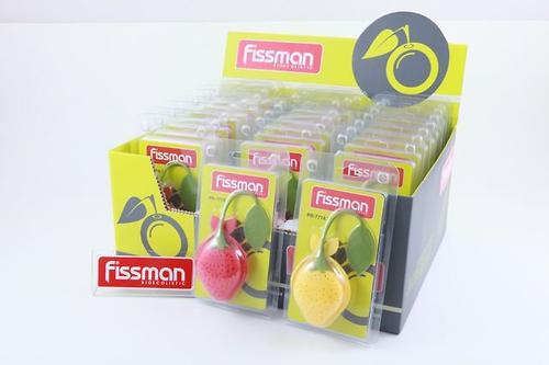 Силиконовый фильтр для заваривания чая в форме лимона или клубники Fissman 7714 (1)