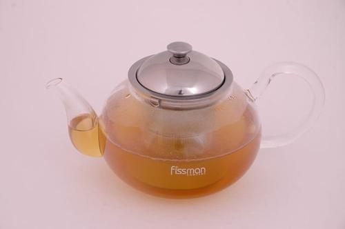 Заварочный чайник со стальным ситечком VIOLA 800 мл (стекло) Fissman 9221 (1)