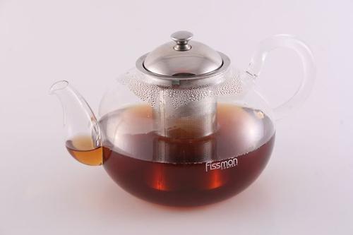 Заварочный чайник со стальным ситечком Fissman VIOLA 1500 мл (стекло) 9222 (1)