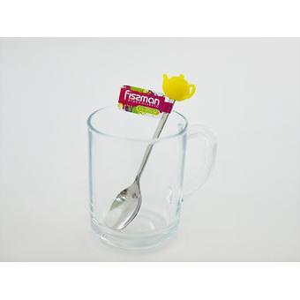 Чайная ложечка с силиконовой фигуркой ЧАЙНИК (нерж. сталь) Fissman 3770 - Minim