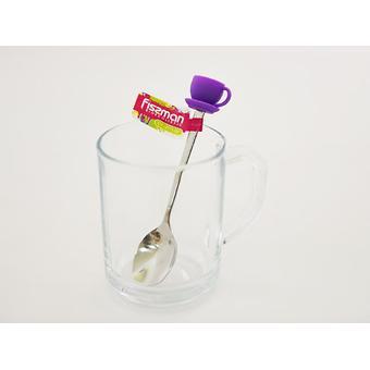 Чайная ложечка с силиконовой фигуркой ЧАШКА (нерж. сталь) Fissman 3771 - Minim
