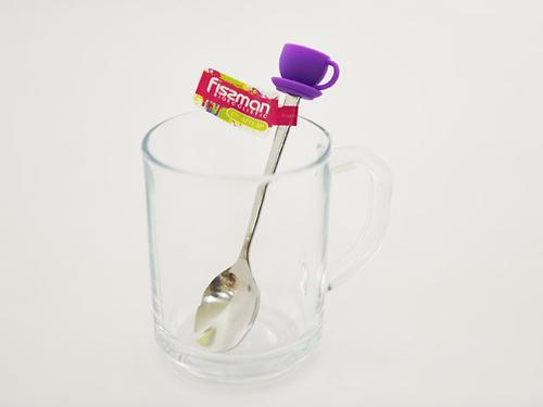 Чайная ложечка с силиконовой фигуркой ЧАШКА (нерж. сталь) Fissman 3771 (1)