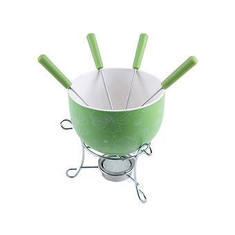 Набор для приготовления шоколадного фондю MINI 6 пр. (керамика зеленая) Fissman 6307 - Minim