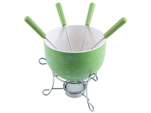 Набор для приготовления шоколадного фондю MINI 6 пр. (керамика зеленая) Fissman 6307 (3)