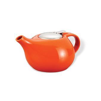 Заварочный чайник Fissman 1300 мл с ситечком Оранжевый (керамика) 9196 - Minim
