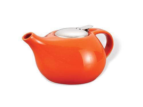 Заварочный чайник Fissman 1300 мл с ситечком Оранжевый (керамика) 9196 (1)