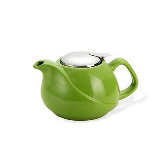 Заварочный чайник 750 мл с ситечком ЗЕЛЕНЫЙ (керамика) Fissman 9197 - Minim