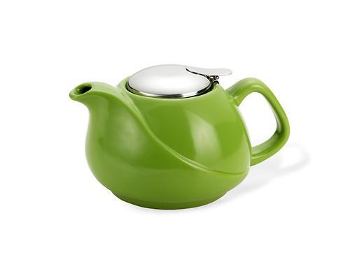 Заварочный чайник 750 мл с ситечком ЗЕЛЕНЫЙ (керамика) Fissman 9197 (1)