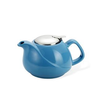 Заварочный чайник Fissman 750 мл с ситечком Голубой (керамика) 9198 - Minim