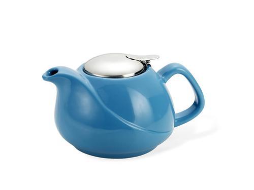 Заварочный чайник Fissman 750 мл с ситечком Голубой (керамика) 9198 (1)