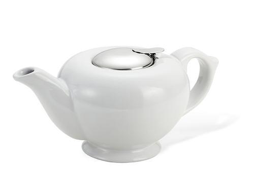 Заварочный чайник Fissman 1200 мл с ситечком Белый (керамика) 9199 (1)