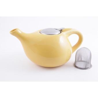 Заварочный чайник Fissman 1300 мл с ситечком Желтый (керамика) 9203 - Minim