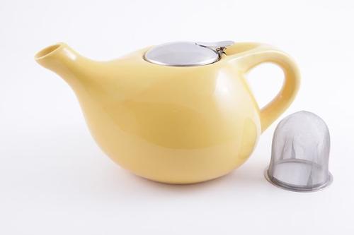 Заварочный чайник Fissman 1300 мл с ситечком Желтый (керамика) 9203 (1)