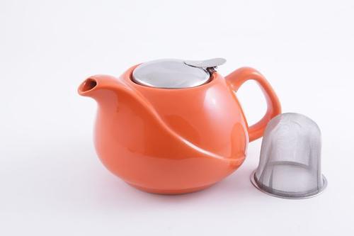 Заварочный чайник Fissman 750 мл с ситечком Орнажевый (керамика) 9205 (1)