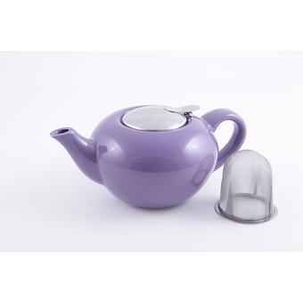Заварочный чайник Fissman 750 мл с ситечком Фиолетовый (керамика) 9207 - Minim