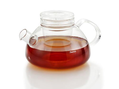 Заварочный чайник Fissman ANITA 1200 мл со стеклянным фильтром (стекло) 9226 (1)