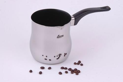 Турка для варки кофе 10x12 см / 900 мл с антипригарным покрытием (нерж. сталь) Fissman 7814 (1)