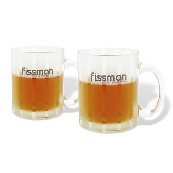 Набор из 2 кружек 350 мл (светло-желтое стекло) Fissman 9305 - Minim