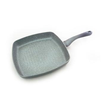 Квадратная сковорода-гриль MOON STONE 28х4,5 см с индукционным дном (алюминий с антипригарным покрытием) Fissman 4403 - Minim