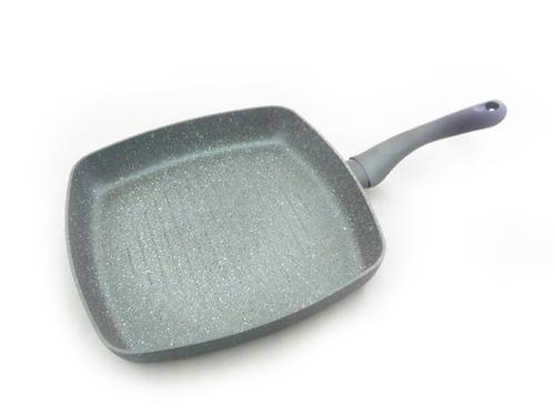 Квадратная сковорода-гриль MOON STONE 28х4,5 см с индукционным дном (алюминий с антипригарным покрытием) Fissman 4403 (1)