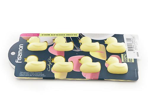 Форма для шоколада Fissman 8 ячеек Уточки цвет Палевый (силикон) 6694 (1)