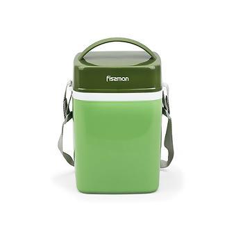 Термос для пищи с широким горлом 2000 мл ЗЕЛЕНЫЙ с тремя контейнерами и ложкой (пластиковый корпус со стальной колбой) Fissman 7942 - Minim