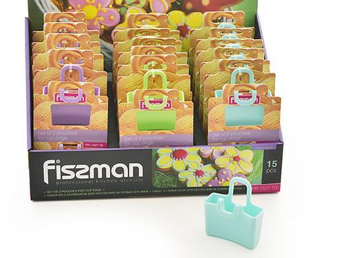 Набор из 2 кармашков для крепления на кромку кружки (силикон) Fissman 7527 (1)