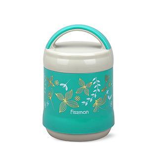 Термос-контейнер для пищи с широким горлом 1200 мл МЕНТОЛОВЫЙ (пластиковый корпус со стальной колбой) Fissman 7936 - Minim
