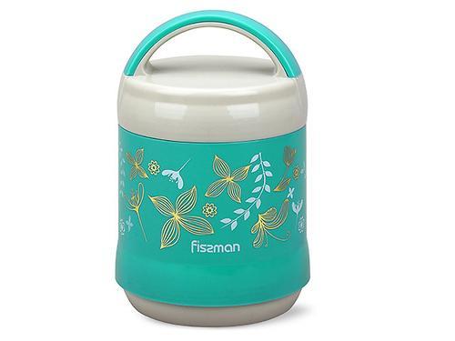 Термос-контейнер для пищи с широким горлом 1200 мл МЕНТОЛОВЫЙ (пластиковый корпус со стальной колбой) Fissman 7936 (3)