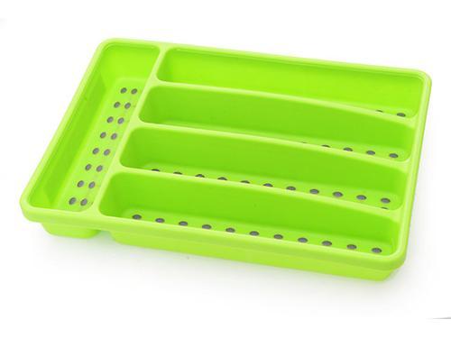 Лоток для хранения столовых приборов 32x22,5x4,5 см, цвет ЗЕЛЕНЫЙ (пластик) Fissman 8860 (1)