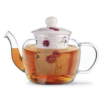 Заварочный чайник CASABLANCA 1000 мл с керамическим фильтром и крышкой (стекло) Fissman 9273 - Minim