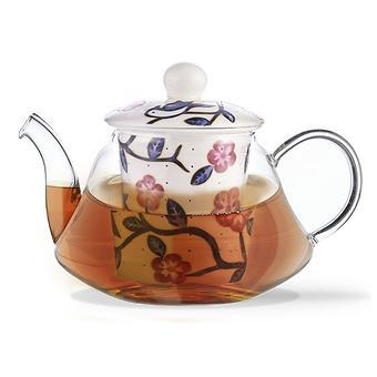 Заварочный чайник CASABLANCA 600 мл с керамическим фильтром и крышкой (стекло) Fissman 9274 - Minim