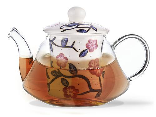 Заварочный чайник CASABLANCA 600 мл с керамическим фильтром и крышкой (стекло) Fissman 9274 (1)
