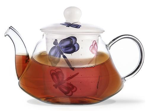 Заварочный чайник CASABLANCA 1000 мл с керамическим фильтром и крышкой (стекло) Fissman 9275 (1)