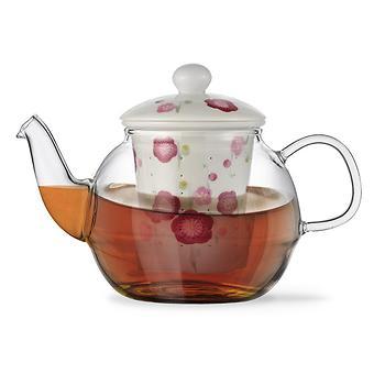 Заварочный чайник CASABLANCA 600 мл с керамическим фильтром и крышкой (стекло) Fissman 9276 - Minim