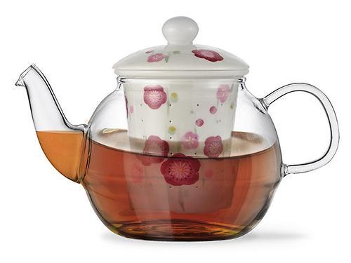 Заварочный чайник CASABLANCA 600 мл с керамическим фильтром и крышкой (стекло) Fissman 9276 (1)