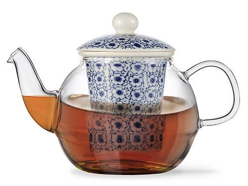 Заварочный чайник CASABLANCA 1000 мл с керамическим фильтром и крышкой (стекло) Fissman 9277 (1)
