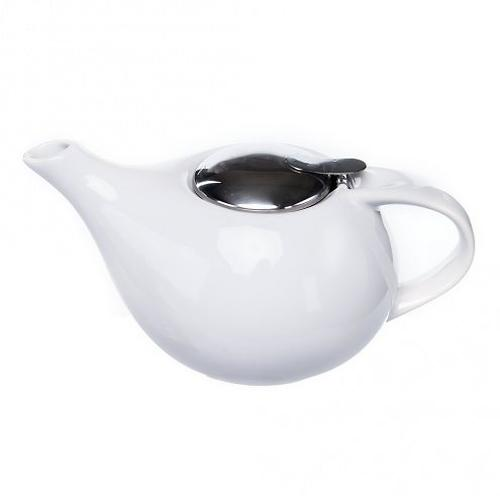 Заварочный чайник 750 мл с ситечком БЕЛЫЙ (керамика) Fissman 9204 (1)
