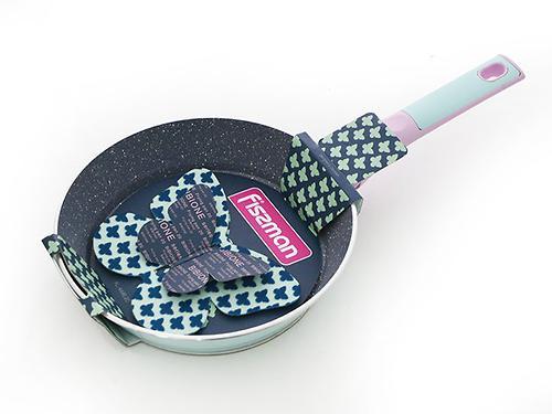 Сковорода Fissman BIBIONE с фетровой вкладкой Бабочка с индукционным дном (алюминий с антипригарным покрытием) 4446 (1)