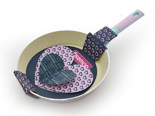 Сковорода Fissman BIBIONE с фетровой вкладкой Сердечко с индукционным дном (алюминий с антипригарным покрытием) 4449 (1)