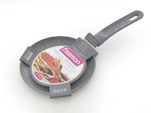 Сковорода для блинов JESOLO 18x2,0 см с индукционным дном, СЕРЫЙ мраморный цвет (алюминий с антипригарным покрытием) Fissman 4709 (1)