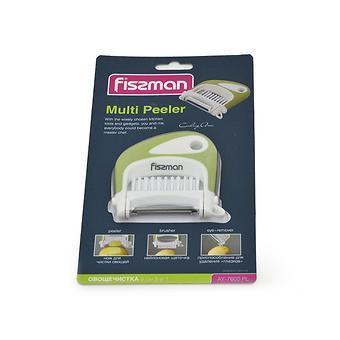 Овощечистка 8 см 3-в-1 (пластик, нерж. сталь) Fissman 7600 - Minim